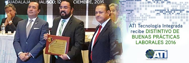 ATI Tecnología Integrada recibe el DISTINTIVO DE BUENAS PRÁCTICAS LABORALES 2016
